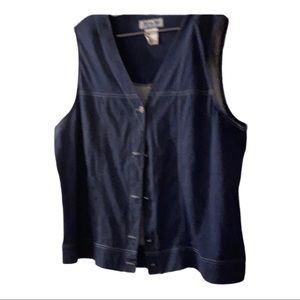 Just my size ladies 2X Jean vest